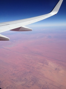 Leaving Alice Springs, flying over the Red Centre